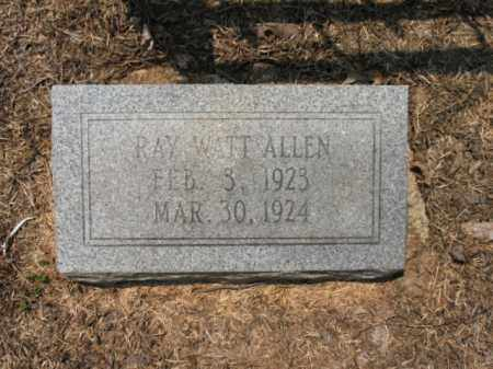 ALLEN, RAY WATT - Drew County, Arkansas | RAY WATT ALLEN - Arkansas Gravestone Photos