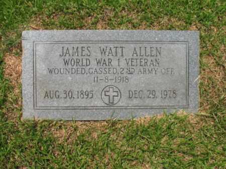 ALLEN (VETERAN WWI), JAMES WATT - Drew County, Arkansas   JAMES WATT ALLEN (VETERAN WWI) - Arkansas Gravestone Photos