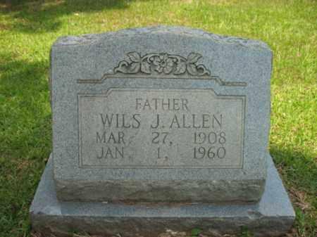 ALLEN, WILS J - Drew County, Arkansas   WILS J ALLEN - Arkansas Gravestone Photos