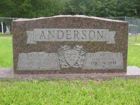 ANDERSON, DALLAS A. - Drew County, Arkansas | DALLAS A. ANDERSON - Arkansas Gravestone Photos
