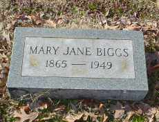 BIGGS, MARY JANE - Drew County, Arkansas | MARY JANE BIGGS - Arkansas Gravestone Photos