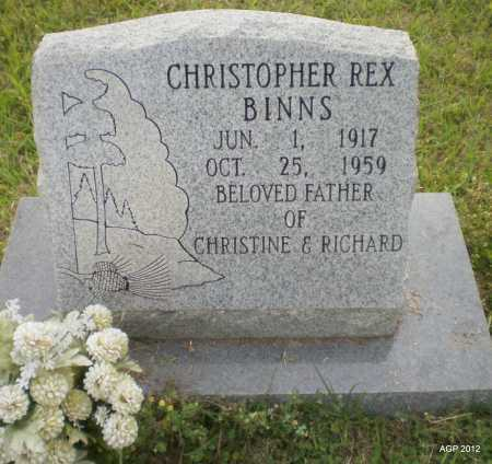 BINNS, CHRISTOPHER REX - Drew County, Arkansas   CHRISTOPHER REX BINNS - Arkansas Gravestone Photos