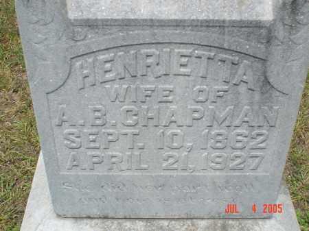 CHAPMAN, HENRIETTA - Drew County, Arkansas | HENRIETTA CHAPMAN - Arkansas Gravestone Photos