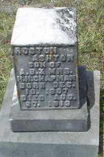 CHAPMAN, ROSTON ASHTON - Drew County, Arkansas   ROSTON ASHTON CHAPMAN - Arkansas Gravestone Photos