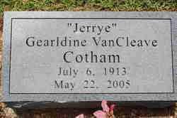 COTHAM, GERALDINE - Drew County, Arkansas | GERALDINE COTHAM - Arkansas Gravestone Photos