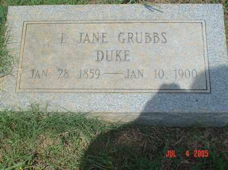 GRUBBS DUKE, L. JANE - Drew County, Arkansas | L. JANE GRUBBS DUKE - Arkansas Gravestone Photos