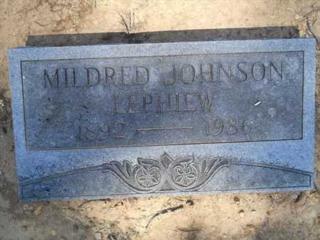 LEPHIEW, MILDRED - Drew County, Arkansas | MILDRED LEPHIEW - Arkansas Gravestone Photos