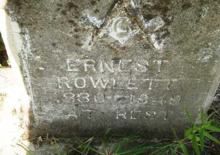 ROWLETT, ERNEST - Drew County, Arkansas | ERNEST ROWLETT - Arkansas Gravestone Photos