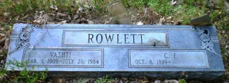 ROWLETT, VASHTI - Drew County, Arkansas | VASHTI ROWLETT - Arkansas Gravestone Photos