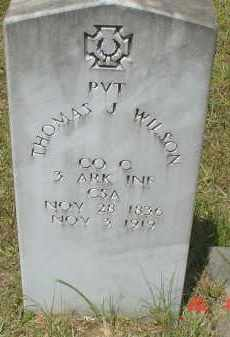 WILSON (VETERAN CSA), THOMAS JEFFERSON - Drew County, Arkansas | THOMAS JEFFERSON WILSON (VETERAN CSA) - Arkansas Gravestone Photos