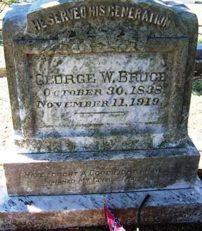 BRUCE (VETERAN CSA), GEORGE W - Faulkner County, Arkansas   GEORGE W BRUCE (VETERAN CSA) - Arkansas Gravestone Photos