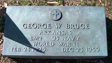 BRUCE (VETERAN WWII), GEORGE W - Faulkner County, Arkansas | GEORGE W BRUCE (VETERAN WWII) - Arkansas Gravestone Photos