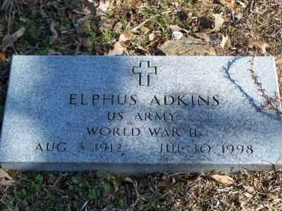 ADKINS  (VETERAN WWII), ELPHUS - Faulkner County, Arkansas | ELPHUS ADKINS  (VETERAN WWII) - Arkansas Gravestone Photos