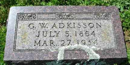 ADKISSON, SR., GEORGE W. - Faulkner County, Arkansas | GEORGE W. ADKISSON, SR. - Arkansas Gravestone Photos