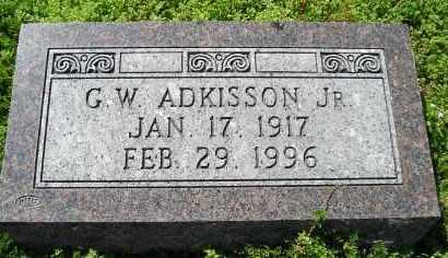 ADKISSON, JR., GEORGE W. - Faulkner County, Arkansas | GEORGE W. ADKISSON, JR. - Arkansas Gravestone Photos