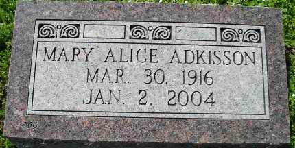 ADKISSON, MARY ALICE - Faulkner County, Arkansas | MARY ALICE ADKISSON - Arkansas Gravestone Photos