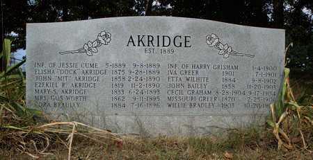 *AKRIDGE OVERVIEW,  - Faulkner County, Arkansas |  *AKRIDGE OVERVIEW - Arkansas Gravestone Photos