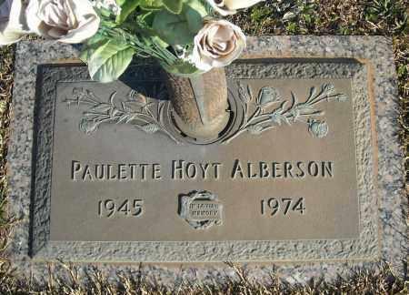 HOYT ALBERSON, PAULETTE - Faulkner County, Arkansas | PAULETTE HOYT ALBERSON - Arkansas Gravestone Photos