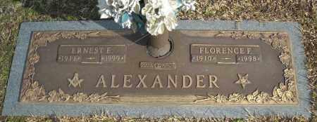 ALEXANDER, FLORENCE F. - Faulkner County, Arkansas | FLORENCE F. ALEXANDER - Arkansas Gravestone Photos