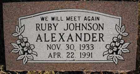 JOHNSON ALEXANDER, RUBY - Faulkner County, Arkansas | RUBY JOHNSON ALEXANDER - Arkansas Gravestone Photos
