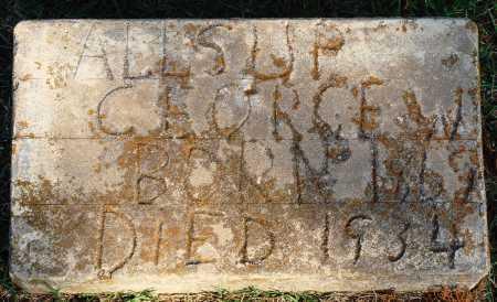 ALLSUP, GEORGE W. - Faulkner County, Arkansas | GEORGE W. ALLSUP - Arkansas Gravestone Photos