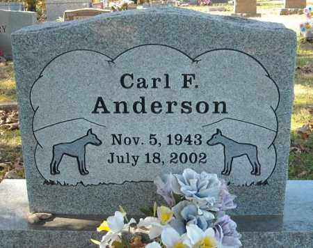 ANDERSON, CARL F. - Faulkner County, Arkansas | CARL F. ANDERSON - Arkansas Gravestone Photos