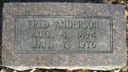 ANDERSON, FRED - Faulkner County, Arkansas | FRED ANDERSON - Arkansas Gravestone Photos