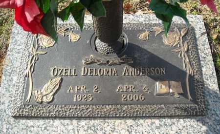 ANDERSON, OZELL DELORIA - Faulkner County, Arkansas   OZELL DELORIA ANDERSON - Arkansas Gravestone Photos