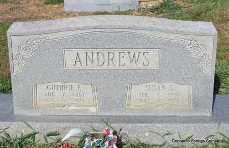 ANDREWS, GUTHRIE ELISHA - Faulkner County, Arkansas   GUTHRIE ELISHA ANDREWS - Arkansas Gravestone Photos