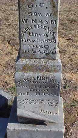ANDREWS, G.C. (INDIVIDUAL) - Faulkner County, Arkansas | G.C. (INDIVIDUAL) ANDREWS - Arkansas Gravestone Photos