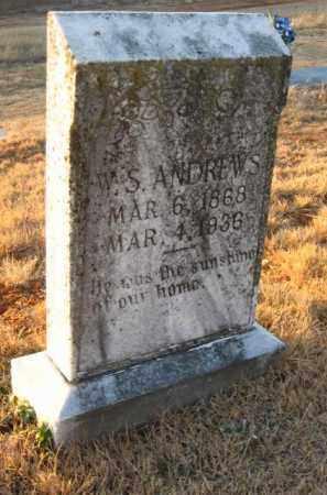 ANDREWS, W. SAMUEL - Faulkner County, Arkansas | W. SAMUEL ANDREWS - Arkansas Gravestone Photos