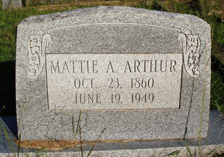 ARTHUR, MATTIE A. - Faulkner County, Arkansas   MATTIE A. ARTHUR - Arkansas Gravestone Photos
