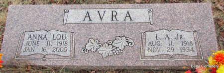 AVRA, ANNA LOU - Faulkner County, Arkansas | ANNA LOU AVRA - Arkansas Gravestone Photos