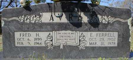 FERRELL AVRA, E. - Faulkner County, Arkansas | E. FERRELL AVRA - Arkansas Gravestone Photos