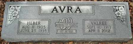 AVRA, HEBER - Faulkner County, Arkansas | HEBER AVRA - Arkansas Gravestone Photos