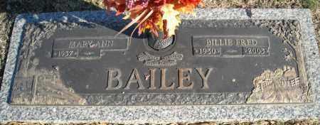 BAILEY, BILLIE FRED - Faulkner County, Arkansas   BILLIE FRED BAILEY - Arkansas Gravestone Photos