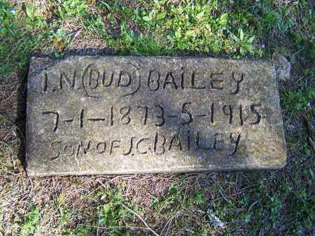 "BAILEY, I.N. ""BUD"" - Faulkner County, Arkansas   I.N. ""BUD"" BAILEY - Arkansas Gravestone Photos"