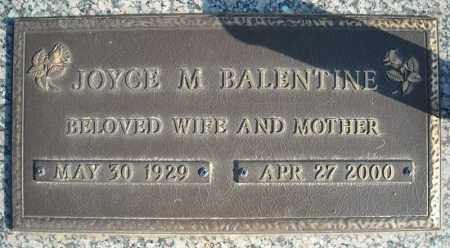 BALENTINE, JOYCE M. - Faulkner County, Arkansas   JOYCE M. BALENTINE - Arkansas Gravestone Photos