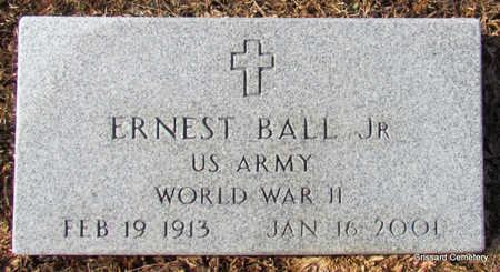 BALL, JR (VETERAN WWII), ERNEST - Faulkner County, Arkansas | ERNEST BALL, JR (VETERAN WWII) - Arkansas Gravestone Photos