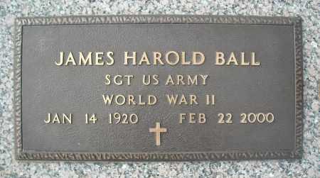 BALL (VETERAN WWII), JAMES HAROLD - Faulkner County, Arkansas   JAMES HAROLD BALL (VETERAN WWII) - Arkansas Gravestone Photos