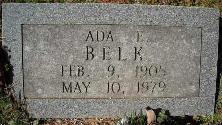 BELK, ADA E. - Faulkner County, Arkansas | ADA E. BELK - Arkansas Gravestone Photos