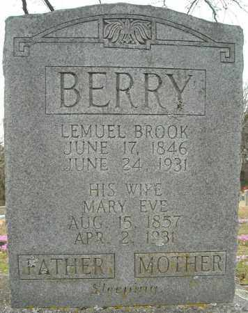 BERRY, LEMUEL BROOK - Faulkner County, Arkansas | LEMUEL BROOK BERRY - Arkansas Gravestone Photos