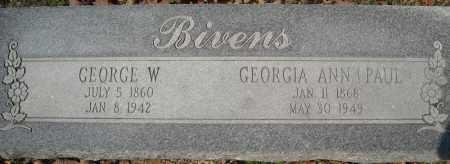 PAUL BIVENS, GEORGIA ANN - Faulkner County, Arkansas | GEORGIA ANN PAUL BIVENS - Arkansas Gravestone Photos