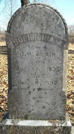 BLAIR, SOPHRONIA A. - Faulkner County, Arkansas   SOPHRONIA A. BLAIR - Arkansas Gravestone Photos