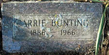 BUNTING, CARRIE - Faulkner County, Arkansas | CARRIE BUNTING - Arkansas Gravestone Photos