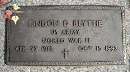 BLYTHE (VETERAN WWII), LINDON D - Faulkner County, Arkansas | LINDON D BLYTHE (VETERAN WWII) - Arkansas Gravestone Photos