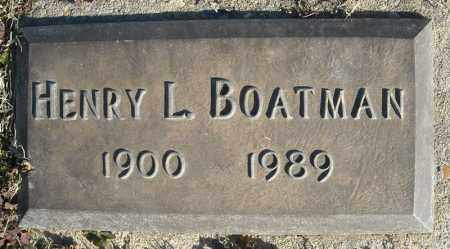 BOATMAN, HENRY L. - Faulkner County, Arkansas | HENRY L. BOATMAN - Arkansas Gravestone Photos