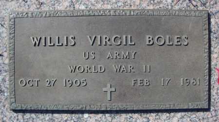 BOLES (VETERAN WWII), WILLIS VIRGIL - Faulkner County, Arkansas | WILLIS VIRGIL BOLES (VETERAN WWII) - Arkansas Gravestone Photos