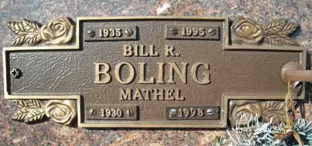 BOLING, BILL R. - Faulkner County, Arkansas   BILL R. BOLING - Arkansas Gravestone Photos