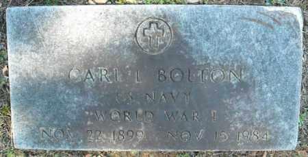 BOLTON  (VETERAN  WWI), CARL L - Faulkner County, Arkansas   CARL L BOLTON  (VETERAN  WWI) - Arkansas Gravestone Photos